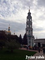 Восстановленная колокольня Спасо-Преображенский собор. Тамбов