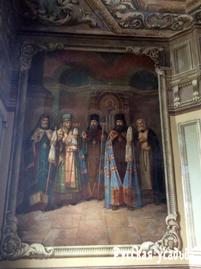 Росписи  в Спасо-Преображенском соборе, посвященные сюжетам из жизни святителя Питирима. Тамбов