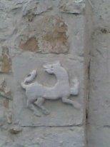Рельеф в кладке Храма Зачатья Иоанна Предтечи в Коломне