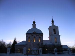 Свято-Тихвинская церковь в усадьбе Новоспасское