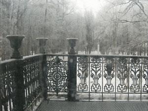 Вид с балкона главного дома в усадьбе Алексино